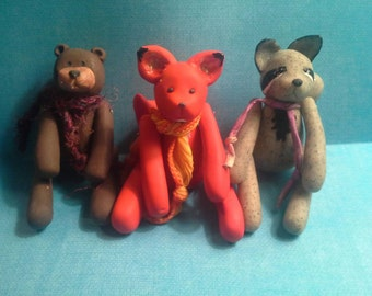 Collectable clay animals. With movable arms and legs!