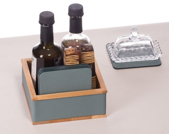 Condiment holder Salt and pepper holder Condiment caddy Napkin holder  Wood table organizer Table Accessories Oil and vinegar holder