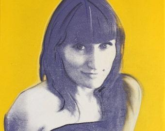 POP ART portraits - hand-created - acrylic on canvas