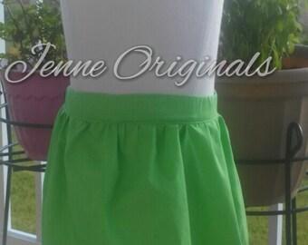 Lovely Lime Toddler Girl Cotton Skirt