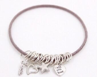 Gray Charm Bracelet