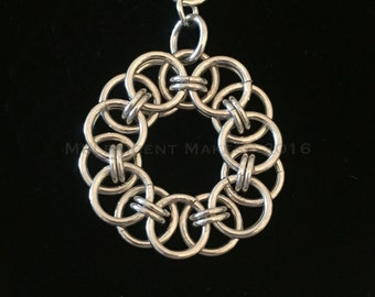 Helm Chain Circle Pendant - (Item P 002)