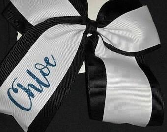 Big Cheer Bows, Bows, Black & White