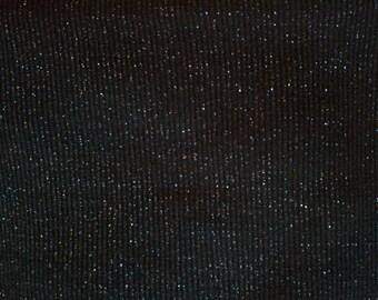 Black Sparkle Rib Knit