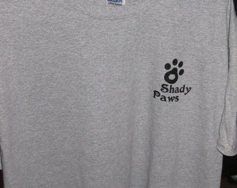 Shady Paws gray t-shirt