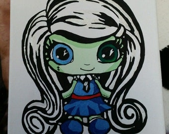 Monster high hand painted image no. 10