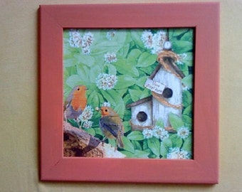 Home Sweet Home picture, Hand made, Decoupage