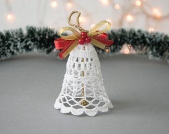 h keln glocke christbaumkugel weihnachtsbaum dekor wei. Black Bedroom Furniture Sets. Home Design Ideas