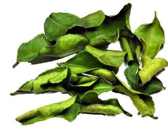 Dried Organic Kaffir Lime Leaves