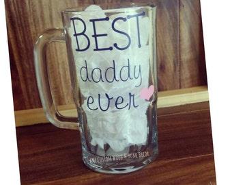 Best Daddy Ever glass mug