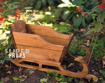 Newborns sled props, Vintage sled, Handmade wooden Snow Sled, Sledge, Christmas sleigh photo prop sled, winter home decor