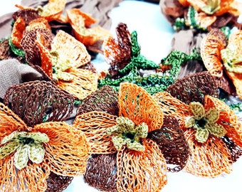 Tutku #2 Scarf - Turkish Oya Lace Crochet Cheesecloth Scarf