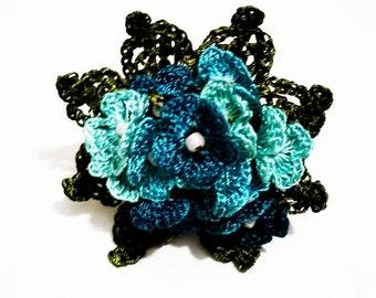 Crochet Flower Ring Turkish Oya Lace