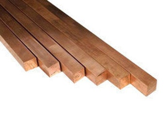 "Cheap 1/4"" (6.35) Square Copper Bar in various lengths"