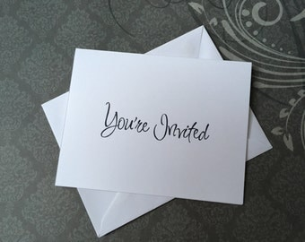 You're Invited Card with Envelope