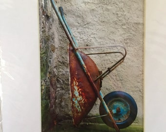 Italian wheelbarrow in country side
