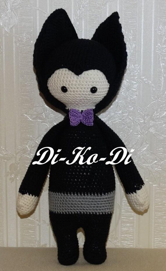 Handmade Dolls Knitted Vampire Bat Doll Poppets Knitted Rag
