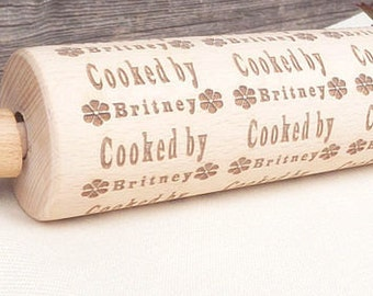 Personalized rolling pin with engraving Gift for mom Gift for her St Valentine's Day gift Romantic gift