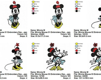 Package 12 Minnie Mouse Embroidery Designs