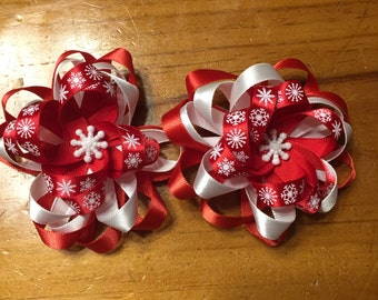 Snow flake bows