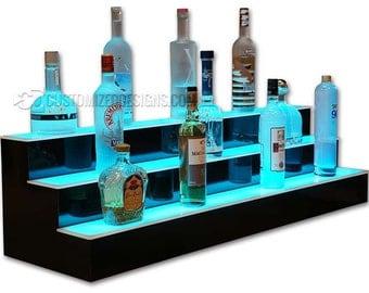 """3 Tier 48"""" LED Lighted Bar Shelves"""