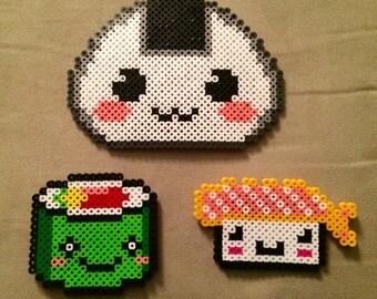 So Kawaii Perler Sushi Magnet Set