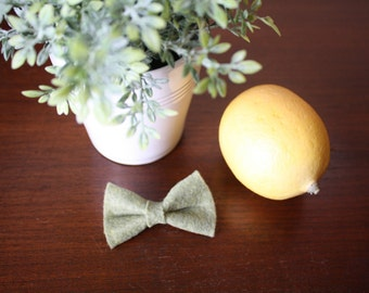 """Baby Bow - 1.5x2.5"""" Sage Green"""