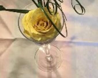 Yellow Preserved Rose arrangement