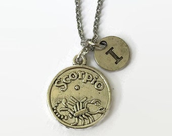 Scorpio Zodiac Jewelry - Scorpio Astrology Jewelry - Scorpio - Scorpio Necklace - Zodiac Jewelry - Valentine Gift Idea - Gift Under 20