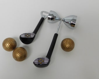 Golf Club Barware Set: Jigger and Bottle opener