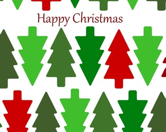 christmas tree pattern christmas card
