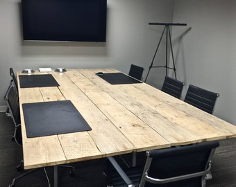 Reclaimed Industrial Conference Table - FREE LOCAL DELIVERY