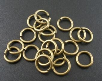 100 jump rings - 8 * 1.2 mm - bronze / D1-0392