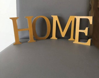 Hand Painted, Free-Standing Wooden Letters (Home/Love).