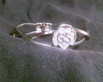 Vintage 1970's Girls Scouts Bracelet GS - Excellent - Free Shipping