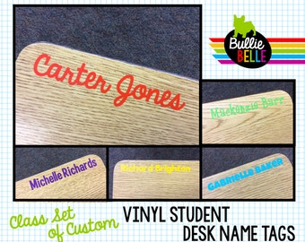 Vinyl Student Desk Name Tags - Student Nameplates - Student Name Tags - Classroom Decor - Classroom Organization - Teacher Supplies