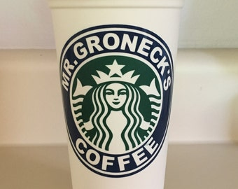 Personalized Recycled Starbucks Cup