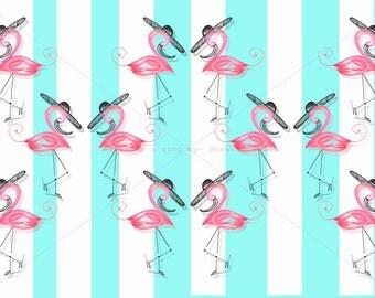Flamingo dancing Print