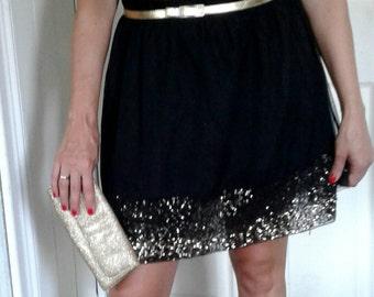 Vintage Mossimo Black Evening Skirt