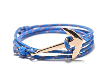 Nautical Anchor Bracelet - Rope Bracelet, Nautical Bracelet, Fish Hook Bracelet, Anchor Bracelet, Men's Bracelet, Women's Bracelet, Gift