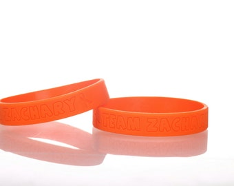 Custom silicone bracelets with your own logo and texts, min 50pcs, silicone wristbands with custom logo