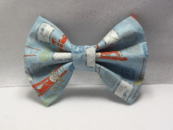 plane/air mail bow,plane hair accessories,fabric hair bow