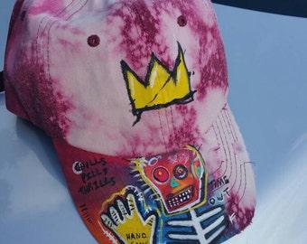 Basquiat strap back vintage hat