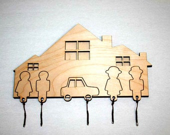 Housekeeper of wood . Vector model for laser cut. Instant download