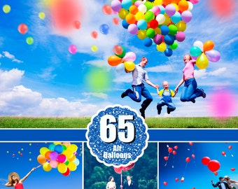 65 balloons balloon Photo Overlays, Photography Overlays, Photography Prop, Digital Download, clip art, clipart, png file