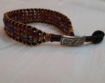Beaded:  Sunrise Iridescent Beaded Bracelet