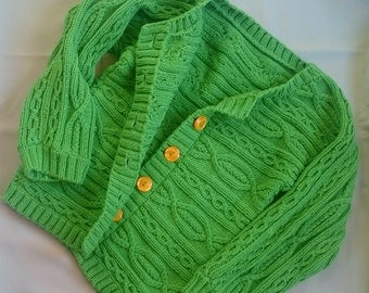 Knitted women's cotton cardigan
