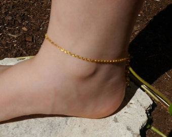Gold Plated Chain Anklet