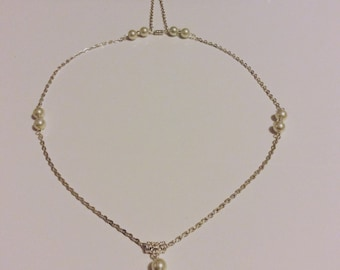 Back neckline wedding necklace