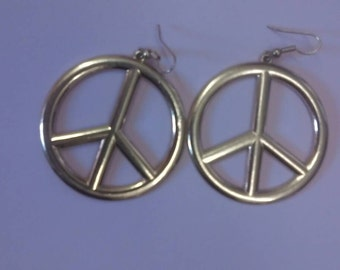 Vintage CND ban the bomb earings